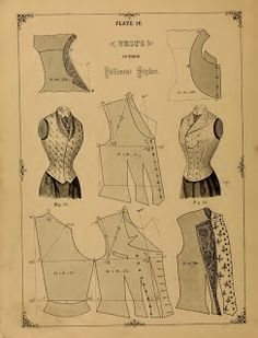 What We Did When The Power Went Out (Sewing In Walden): Vests (1890) http://sewinginwalden.blogspot.com/2013/07/vests-1890.html