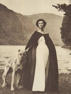 mid-centurylove:  Dress and cape by Irish fashion designer Sybil Connolly, 1954