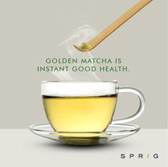 Out with the teabags, in with Sprig's Golden Matcha, a green tea powder that makes use of the whole leaf so that you don't miss out on the antioxidants that are normally lost when you throw out the leaves. Just top it with some hot water and enjoy a cup of health.  https://goo.gl/V0abxk #SprigGourmet #GoldenMatcha #Greentea #Onlineorder #Healthy