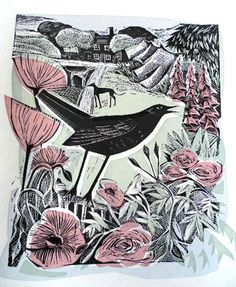 August Blackbird by Angela Harding is one of the lovely works being displayed at Cambridge Contemporary Art's Best of British exhibition