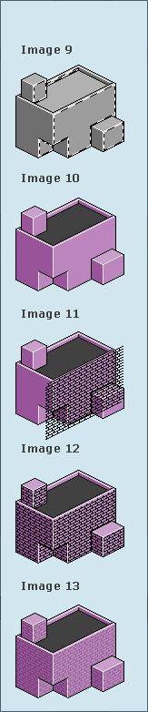 Pixel art in Photoshop, pixel, isometric building, isometric