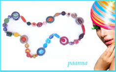 Collana Cercles Colorés by Paanna su DaWanda.com Collana con perle di vetro. Necklace to any outfit. Timeless Necklace. Necklace Beads glass.