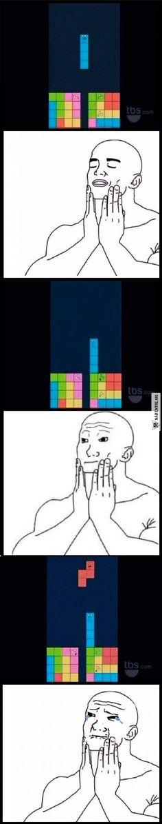 aquele azar maldito no tetris.....