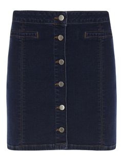 Photo 1 of Mid Wash Button Mini Skirt