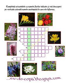 Joc de copii: Jocul florilor School Lessons, After School, 8 Martie, Board Games, Homeschool, Puzzle, Letters, Activities, Holiday Decor