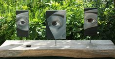 """Pourquoi, parce que..."" Oil on wood panels and oak beam. IdR copyright."