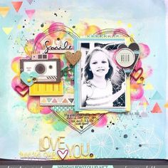 Look at this gorgeous and colorful LO created by team member @missywhidden  She used our #august2015 kits @pinkfreshstudio @americancrafts @cratepaper @shopfreckledfawn @simplestories_ #hipkits #hipkitclub #scrapbookkits #august2015