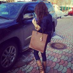 F A L L - Louis Vuitton purse, burberry galoshes