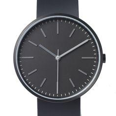 Uniform Wares 104 Series (black/black) watch by Uniform Wares. Available at Dezeen Watch Store: www.dezeenwatchstore.com