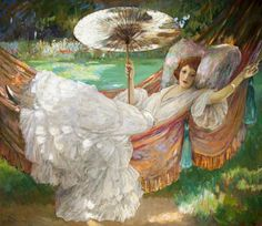 Centuries Past, The Red Hammock Sir John Lavery, R.A. Ulster...