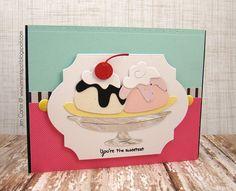 Jen Carter, Frantic Stamper, Sweetest Sundae, Banana Split, card
