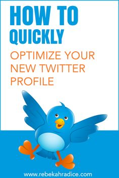 How to Optimize Your New Social Media Digital Marketing, Social Marketing, Marketing Quotes, Social Media Tips, Online Marketing, Marketing Ideas, Internet Marketing, Twitter Tips, New Twitter