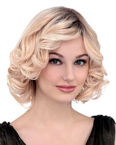 PLF008HM by Louis Ferre is a mid-length contemporary style with soft non-permanent curls and side swept bangs. Free Shipping in the US. Our Price: $1200.00