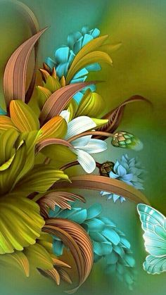 ideas flowers painting acrylic wallpaper for 2020 Flower Phone Wallpaper, Butterfly Wallpaper, Colorful Wallpaper, Cellphone Wallpaper, Wallpaper Backgrounds, Nature Wallpaper, Trendy Wallpaper, Wallpaper Ideas, Beautiful Flowers Wallpapers