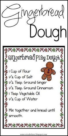 Free Gingerbread Dough Recipe Download/Printable.
