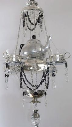 chandelier teacup weird worm chandeliers
