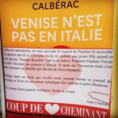 Venise n'est pas en Italie d'Yvan Calberac @livredepoche Editions Flammarion  Coup de coeur @libcheminant Vannes  #lespetitsmotsdeslibraires #libraires #coupdecoeurlitteraire