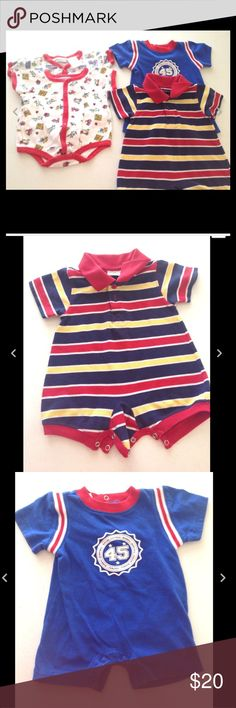 💟New Listing💟 4 Piece Boy Onsie Lot 0-3 Months 4 Piece Lot of Boy Onsies  Size 0-3 Months  One Item is size 3-6 Months (Striped Onsie)  Included Prints:  Fire Fighter  Car, Boat, House  Stripe with Collar  Blue Sport Logo  Colors are a little faded otherwise great condition One Pieces Bodysuits