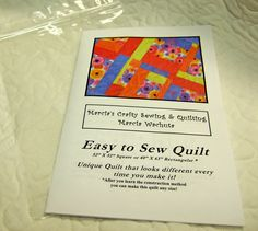 Easy to Sew Quilt Pattern - $8.00 (I love all the quilts she makes with this!)