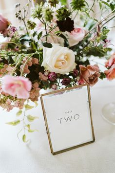 Wedding Table Numbers In Gold Frames // Image By John Barwood Photography Devon, Framed Table Numbers, Wedding Table Numbers, Wedding Stationery Inspiration, Wedding Stationary, Wedding Decorations On A Budget, Wedding Centerpieces, Wedding Favors, Wedding Trends