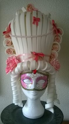 Super Sweet Marie Antoinette Foam wig made by Lady Mallemour. Check my facebook site for more models