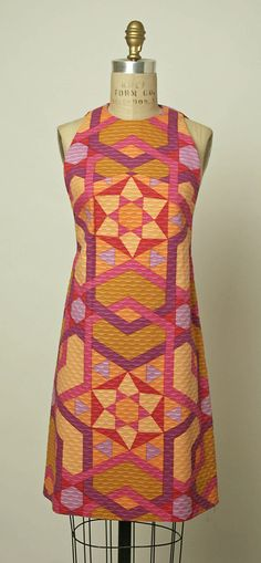 Dress  Jacques Tiffeau  (French, 1927–1988)  Date: 1966 Culture: American Medium: cotton
