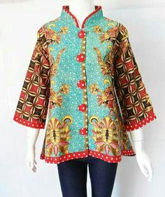 Shangkat Ethnic Clothes, Ethnic Outfits, Blouse Batik, Batik Dress, Chinese Fashion, Chinese Style, Mode Batik, Abed Mahfouz, Batik Fashion