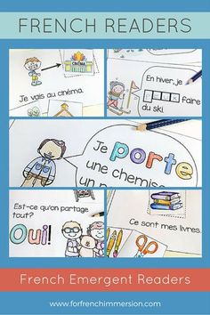 French Emergent Readers: printable mini-books to get your beginning French… Learn French Beginner, French For Beginners, French Teacher, Teaching French, French Articles, French Resources, French Flashcards, French Education, French Classroom