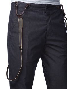 Split Back Suspender Trousers