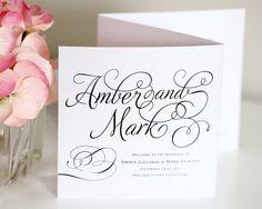 Charming Script Wedding Ceremony Programs - Wedding Programs by Shine
