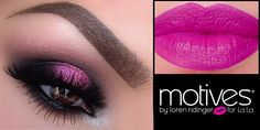 Add some Valentine's Day Glam to your make up with Motives Cosmetics. This look is PERFECTION!