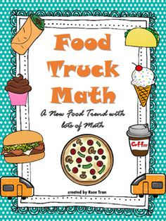 Do you love food trucks? #iheartfoodtrucksI combined my two loves- food trucks and math- and created this resource that's totally hip! There's a lot of math happening in these food trucks like decimals, fractions, dot plots, frequency tables, bar graphs, addition and subtraction, multiplication and division, stem-and-leaf plots, comparing numbers and more!