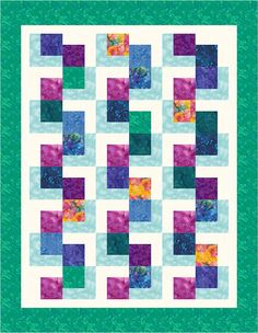 "https://flic.kr/p/bm1xAr | L-Block Quilt 19 | This computer-illustrated L-Block quilt was completed on Electric Quilt software. I haven't made this arrangement into an actual quilt yet.   This is an ""original"" arrangement, meaning I came up with it without seeing anyone else's similar design, but it is so simple that I'm sure hundreds of others have come up with a similar design.  Feel free to copy this one.  Here are some other L-block arrangements, some actual quilt tops, others ..."