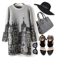 """Grey*"" by fashion-choice ❤ liked on Polyvore featuring Topshop, CÉLINE and vintage"