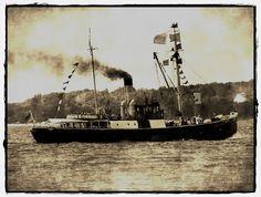 Museumsschiff BUSSARD in Kiel, Dampftonnenleger