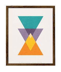 Interlaced 2. Minimalist art Geometric print Triangle print Nordic design Modern wall art Minimalist print scandinavian print mid-century