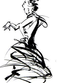 フラメンコダンサー : 筆一本あれば人生は楽し!
