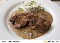 Kančí v hříbkovém krému, v pomalém hrnci recept - TopRecepty.cz Steak, Beef, Places, Meat, Steaks, Lugares