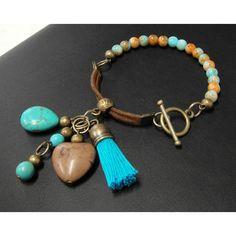 Piedras De Collares De Moda 2014 | Pulsera de Moda con Perla y Turquesa