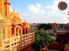 view of johari bazar from hawa mahal