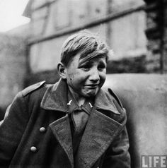 Terror A 15-year-old German soldier, who joined the army to support himself following the death of his parents, cries after being captured by the U.S. 9th Army in Rechtenbach, Germany, during Word War II.