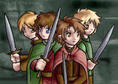 SciFi and Fantasy Art Kawaii Hobbits! by Cyllya Michelle Chandler