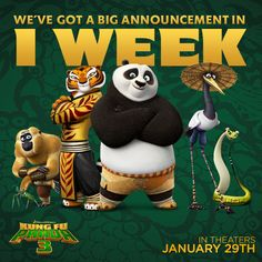 Kung Fu Panda 3 teaser trailer is just one week away!