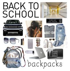 """""""Stylish Backpacks"""" by kotnourka ❤ liked on Polyvore featuring Speck, Chanel, Casetify, Kate Spade, U.S. Stamp & Sign, backpacks, contestentry and PVStyleInsiderContest"""
