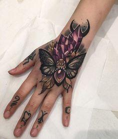 "Bee tattoo on wildflowers ""Queen Bee"""