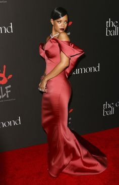Rihanna in Zac Posen at  First Annual Diamond Ball: