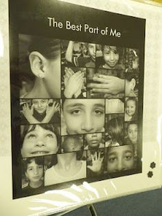 "The Best Part of Me Project.  Read the book ""The Best Part of Me.""  Have students pick their favorite body part and write a descriptive paragraph or poem.  No guidelines, no rubric.  Take a black and white photo and zoom in on their part.  Place writing piece and photo on black and white scrapbook paper.  Perfect for a bulletin board!"