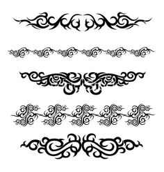 Set of tattoo design vector image on VectorStock Best Tattoo Designs, Henna Designs, Deadpool Tattoo, Tribal Armband Tattoo, Leather Carving, Leather Tooling, Custom Paint Motorcycle, Design Vector, Flash Art