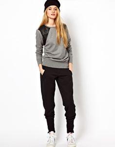 Nike Street Track Pant  Nike Sweatshirt With Leather Panels