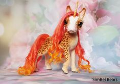 22cm Standing Unicorn Decoration Gift  glitter iridescent finish glitter horn